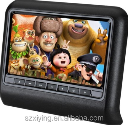 HOT Model 9 inch TV headrest dvd player made in china