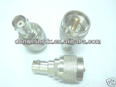 UHF male to BNC female coaxial connector adapter