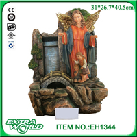 polyresin religious decoration guardian angel waterfall