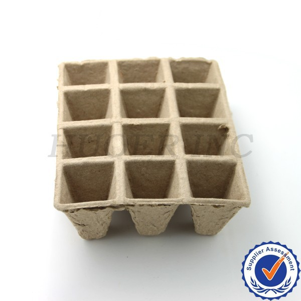 Environmental paper seeding tray
