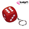 plastic key ring promotional creative Dice key chain