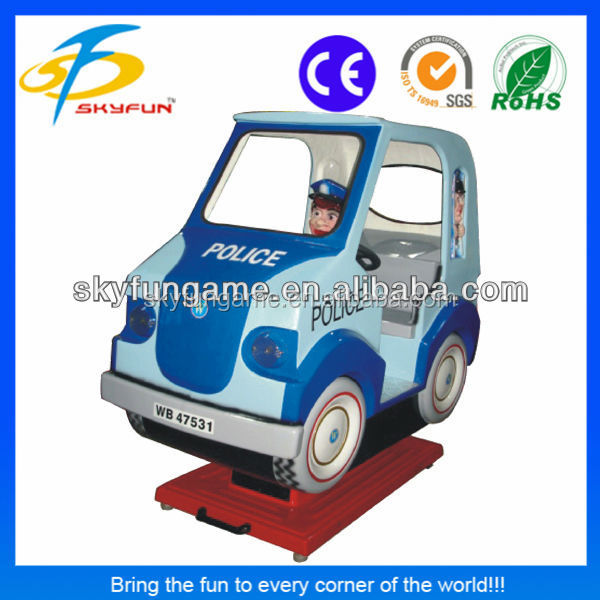 best sell coin operated game machine Police Van kiddie ride manufacturer