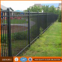 Wrought iron steel tube barrier fence netting