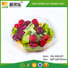 Eco Friendly PET disposable plastic vegetable fruit salad packaging