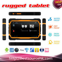 7 inch MTK6589 quad core 1G/4G IPS 1024*600 capacitive 5 touch screen rugged tablet PC with electronic compass