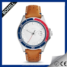 2015 Fashion men'sstainless steel case chronograph feature fashionable vogue watch