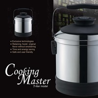 7L Stainless Steel Stock Pot Thermo Cooker Thermal Food Warmer