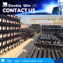 water pressure test ductile iron pipes ISO 2531 Class K9 for ductile cast iron pipe