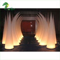 Wedding Decoration Inflatable Ivory Cone , LED Lighting Inflatable Column For Party