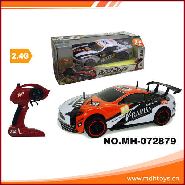 Mini plastic 1:10 4 channel rc simulation cars high speed remote control stunt car