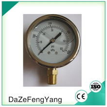 Spring tube glycerin filled semi-ss manometer