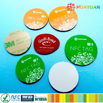 NDEF Data Encoding 13.56MHz Passive Waterproof Ntag213 PVC NFC tag
