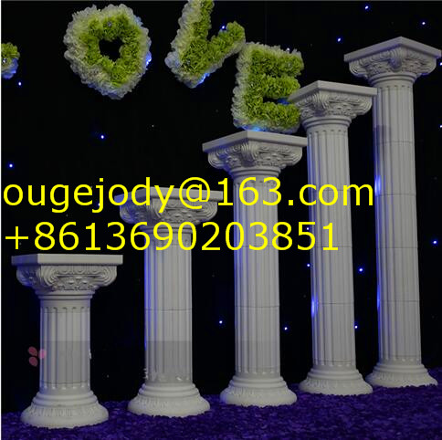 decorative plastic roman wedding pillars for home decoration
