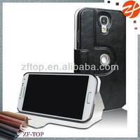 360 degrees rotating leather case for Samsung galaxy s4,multi-angle standing case for Samsung galaxy s4