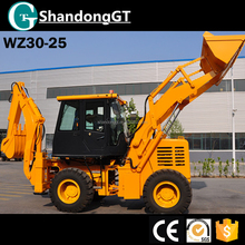 WZ30-25 new 4x4 backhoe loader for sale with quick hitch and cab AC