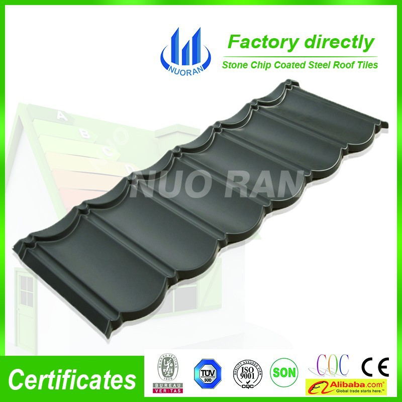 blue color stone coated steel roof tile