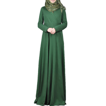 Hot boutique retail plain color simple moroccan kaftan dresses new style 2017 kaftan indonesia