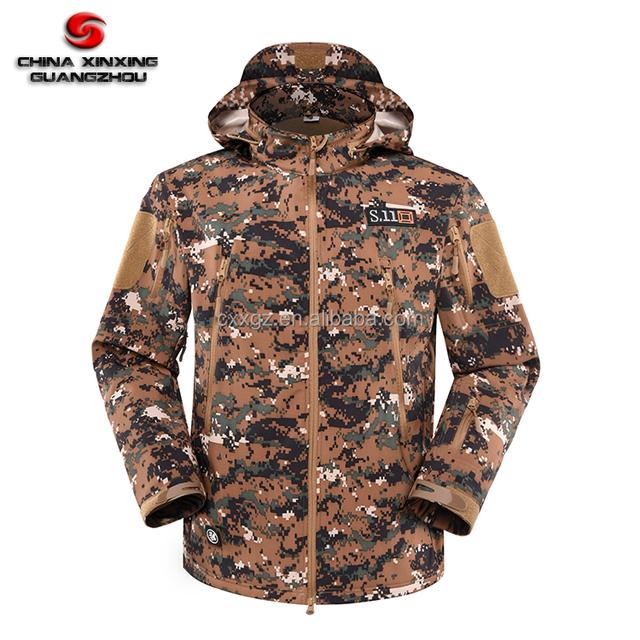 Military Digital Woodland Camouflage Polar Fleece M65 Cold Wind Proof Spring Autumn Winter Jacket