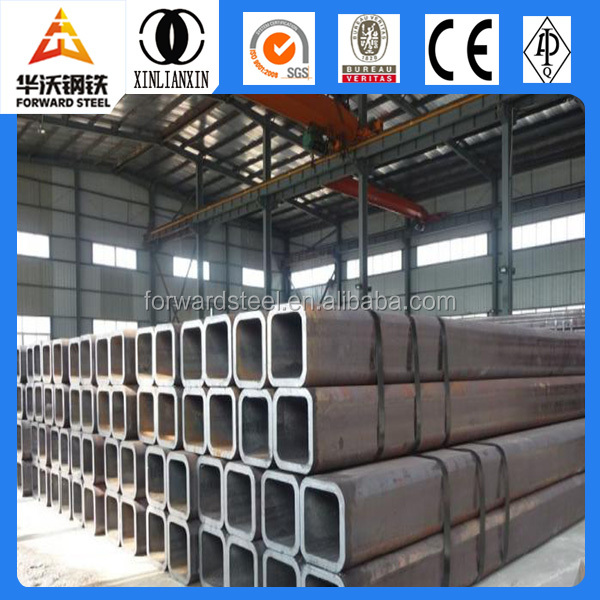 ERW circular tubular steel pipes building material factory square tube ms erw pipe price list