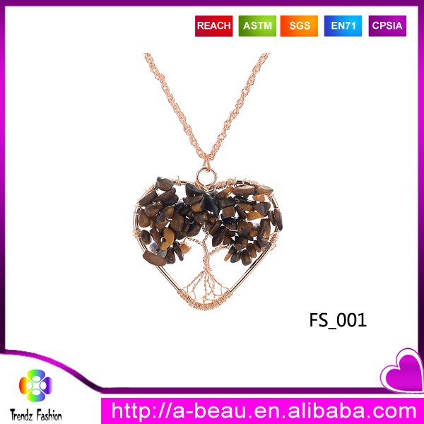 Trendz Fashion Pendant Tree Of Life Gift Brown FS_<strong>001</strong>