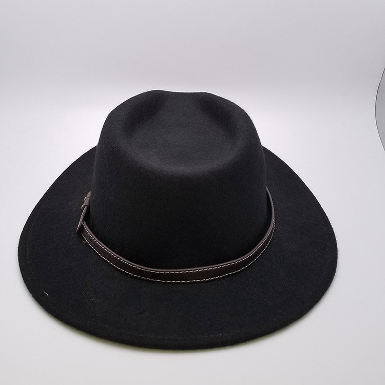 Customized Felt Hat Wide Brim Men Felt Fedora Hat