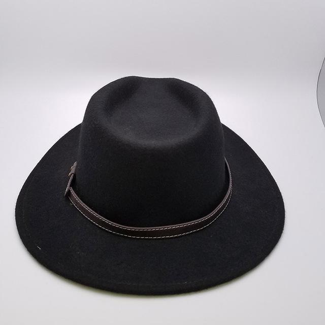 Customized Felt Hat Wide Brim Men Felt Fedora Hat