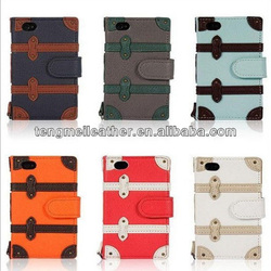Cool Luggage Suitcase Style PU Leather Case for iphone 4 4S 5 5S,Protective wallet stand case for iphone5