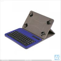 7inch- 8inch universal tablet PC bluetooth keyboard with leather case P-UNI8TABKBCASE003