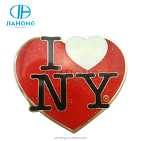 New York city custom name badge pin