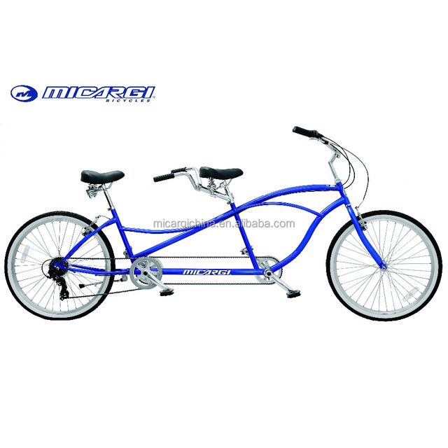 Micargi 26 inch 2 person tandem beach cruiser bike for sale steel bicycle 7 speed