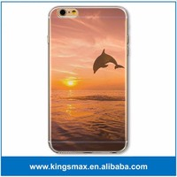 Diving Play Dolphin 3D Printing Case for iPhone SE / 5s OEM Design TPU Phone Cover Case