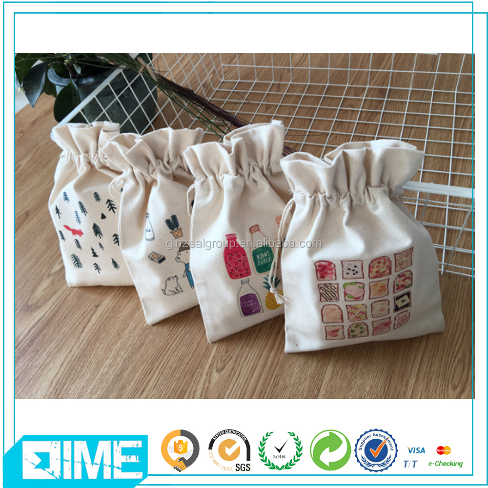Wholesale cheap price cotton pouch bag and gift jewelry packing bag