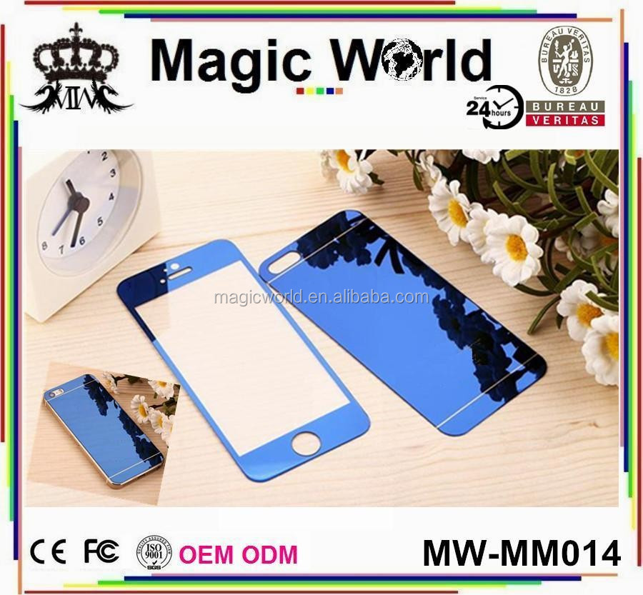 blue glass tempered glass screen guard for iphone 5 5s 6 6s