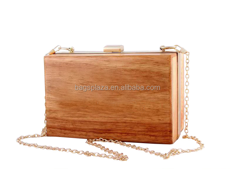 2016 alibaba china EV3004 elegant evening clutch bag lady wooden party bag