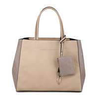 Casual Litchi Sides Bag-in-Bag design Woman Handbag with Attached Purse