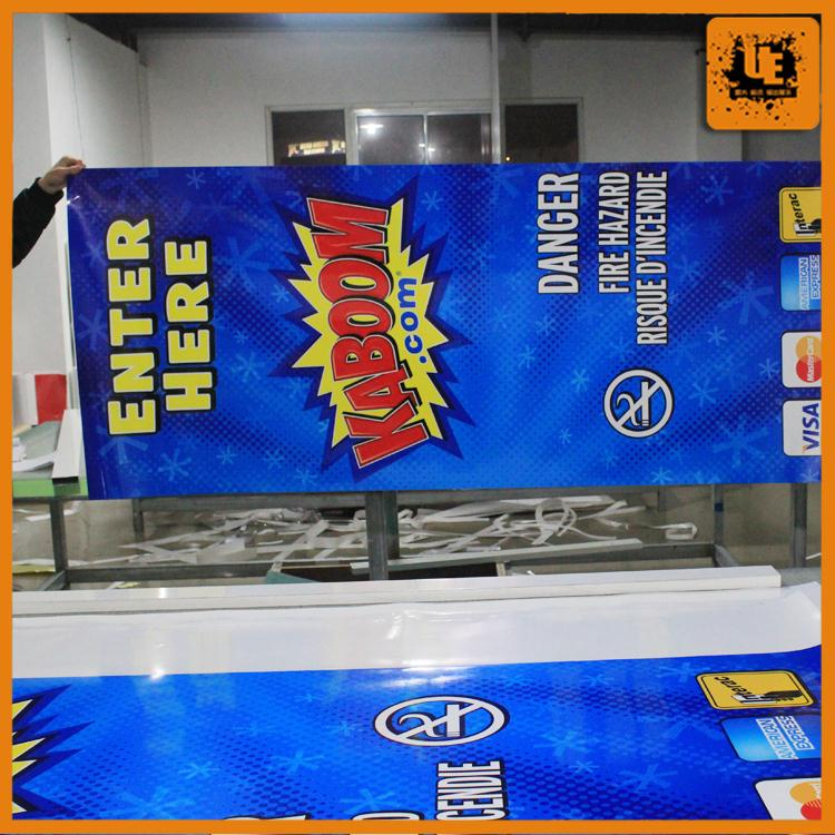 Outdoor advertising window gel stickers opaque glass windows for wholesales