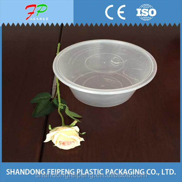 Clear disposable fresh vegetable /salad /fruit plastic packaging box