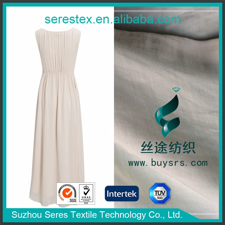 100% polyester french silk chiffon fabric for clothing,blend chiffon fabric,composite filament satin chiffon fabric