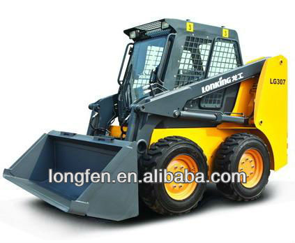 skid steer loader with Japanese Kubota engine Lonking LG307