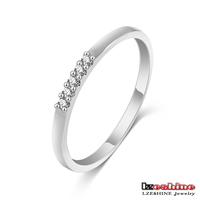 Mini Thin Silver Plated Stackable Ring All Match Unisex Ring Fashion CRI0192-B