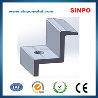 Solar end clamp of accessories for module installation 35-16-50