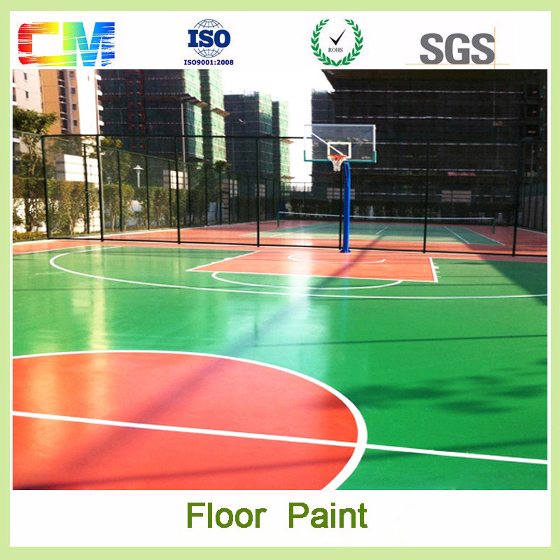 High performance indoor and outdoor polyurethane floor coating anti slip floor paint for basketball court