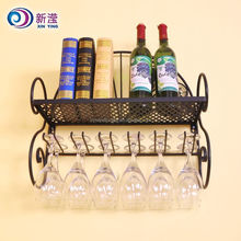 Muti-purpose Wrought Iron Hanging Wine Rack,Book Sehlf,Glasses Holder