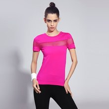Women's sports quick drying short sleeved shirt