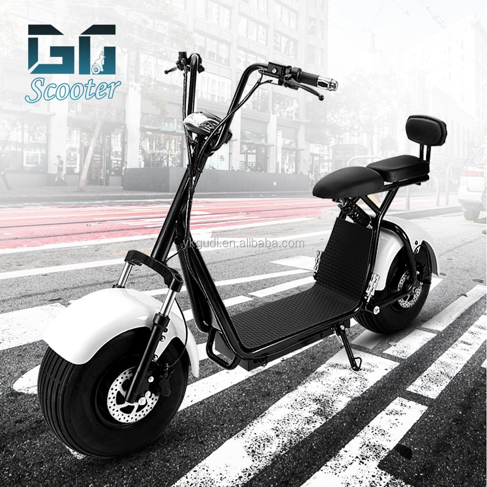 GUDI free shipping hot halley scooter 85KM with CE go-kart tires