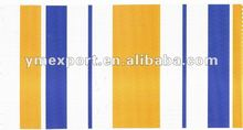 pvc stripe canvas material tarpaulin for awning