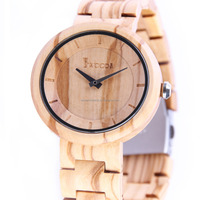 2016 for men and women with customized logo charming natural wholesale wood watch vogue wrist