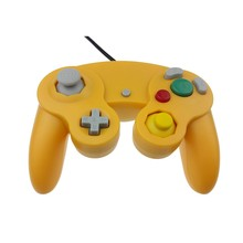Wired Shock Joypad Game Stick Pad Controller for Nintendo Wii GameCube NGC GC Yellow