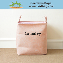 Foldable Linen Washing Clothes Laundry Basket Bag Hamper Bin Storage Infant Toys Bag with Cheap Price