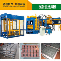 QT10-15 dongyue hydraulic cement auto hollow brick machine block production line